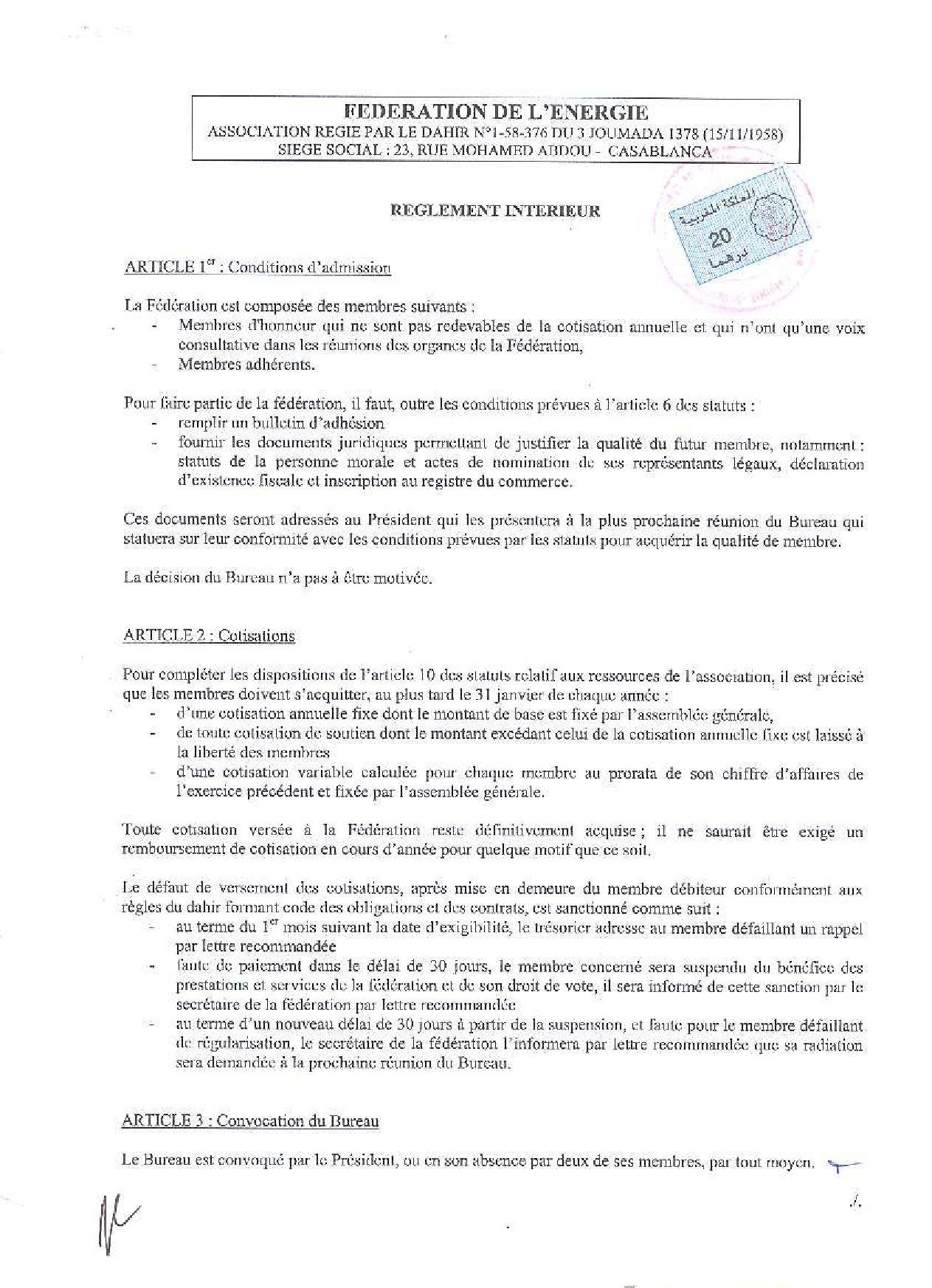 Reglement interieur la poste 28 images informations for Exemple de reglement interieur entreprise