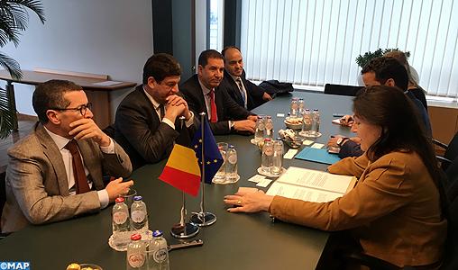 M. Bakkoury s'entretient à Bruxelles avec la ministre belge de l'Énergie