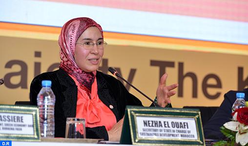 Mme El Ouafi nommée à la tête du Réseau des femmes ministres et hauts fonctionnaires de l'environnement pour l'Afrique
