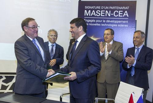Energie solaire : L'accord MASEN-CEA acté