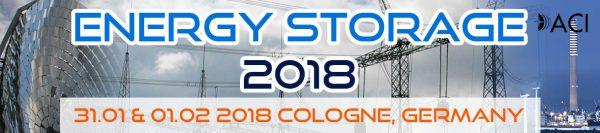 Energy Storage 31 janvier/1er février 2018 | Cologne - Allemagne