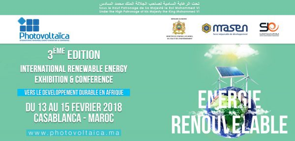« Photovoltaïca » entend s'ériger en catalyseur de l'action africaine en matière d'énergies renouvelables - 13 au 15 février, Marrakech