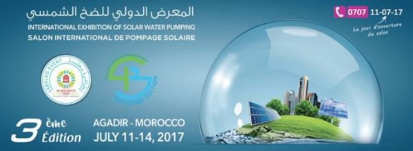 Salon international de pompage solaire Du 3 au 6 juillet à Agadir