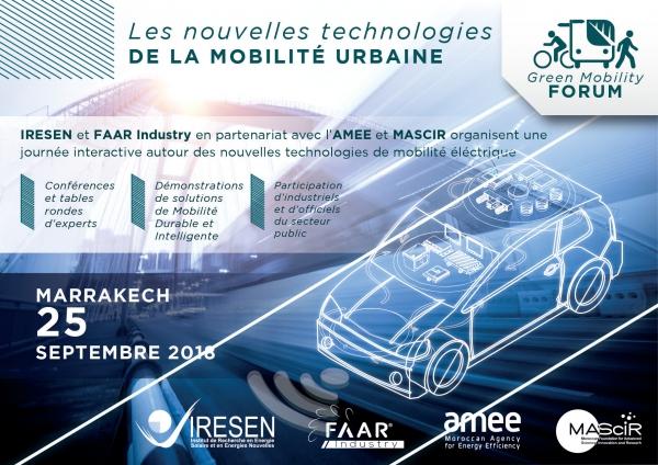 IRESEN : Green Mobility Forum, le 25 septembre à Marrakech