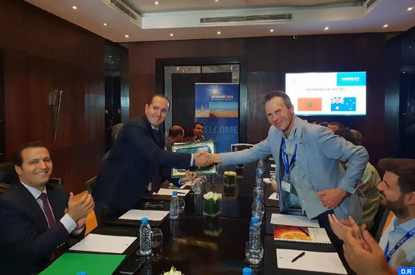 Convention de coopération entre l'IRESEN et un centre de recherche australien