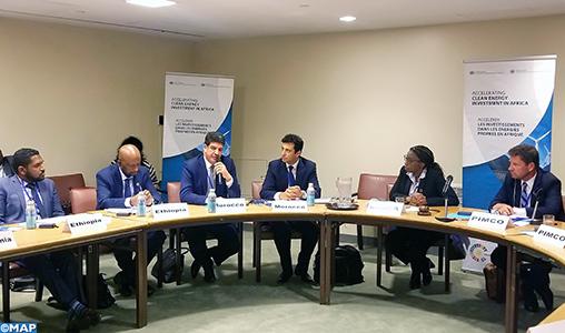 M. Bakkoury participe à New York à une réunion sur l'accélération des investissements dans les énergies propres en Afrique