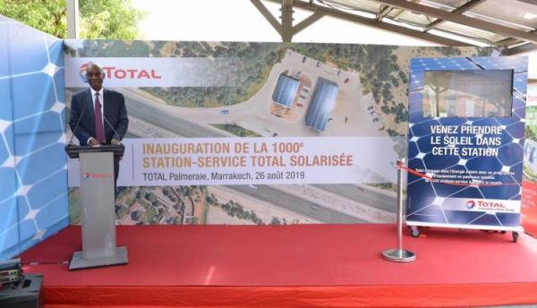 Total inaugura sa 1000e station-service solarisée à Marrakech