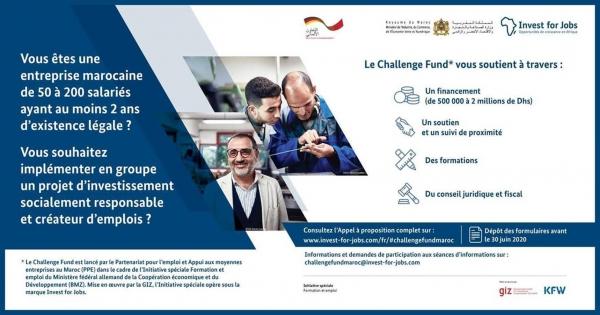 Appel à projet « challenge Fund » destiné aux entreprises marocaines qui emploient entre 50 à 200 salariés