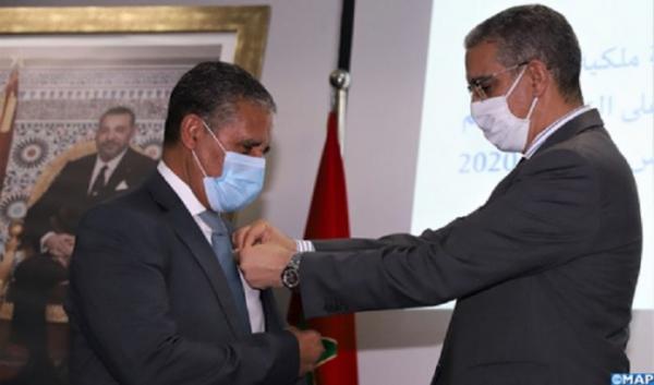 Remise de Wissams royaux à des fonctionnaires du ministère de l'Énergie, des mines et de l'environnement