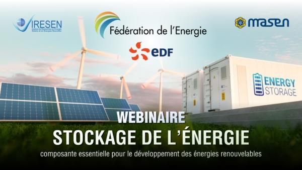 """Fédération de l'Énergie : Webinaire sur """"Le Stockage de l'Énergie, composante essentielle pour le développement des ENRs"""""""