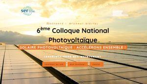 6e édition du Colloque national photovoltaïque Le 19 janvier 2021