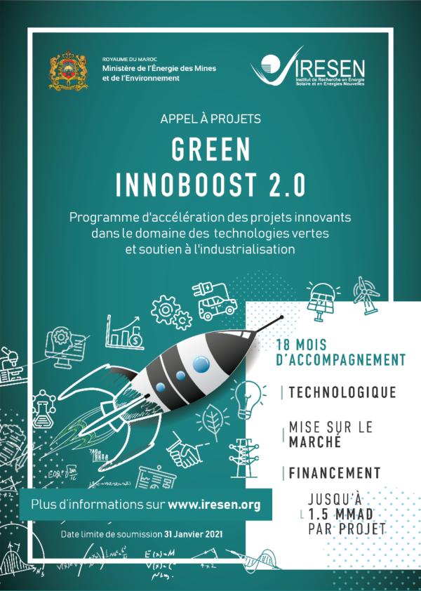 "IRESEN : Lancement de l'appel à projets ""Green Innoboost 2.0"""