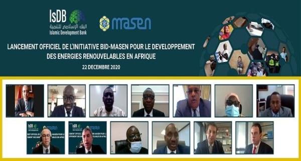 Projets d'EnR : Lancement effectif de l'initiative MASEN-BID