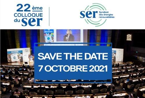 Colloque annuel du Syndicat des énergies renouvelables Le 7 octobre 2021 à Paris
