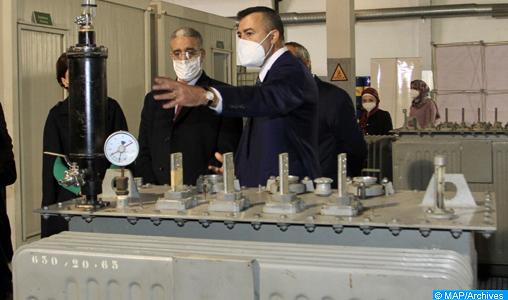 M. Rabbah visite une plateforme de traitement des appareils contaminés par le PCB à Bouskoura
